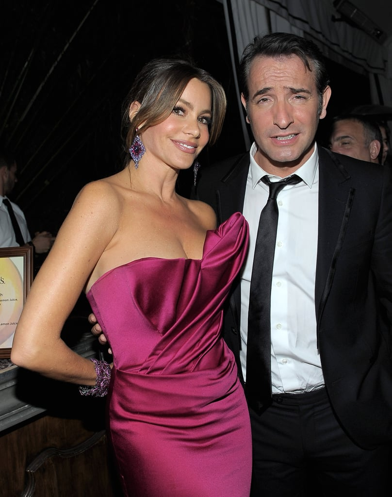 Sofia Vergara had a moment with Jean Dujardin at the Weinstein Company's SAG Awards after party.