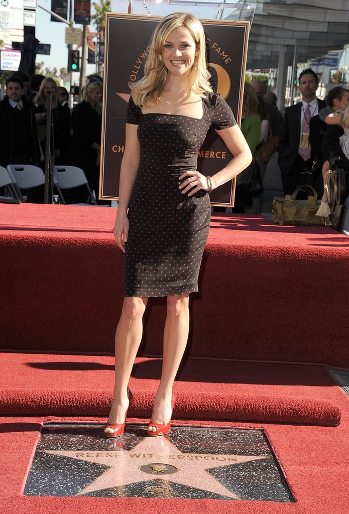 Reese Witherspoon in Dolce & Gabbana at 2010 Hollywood Walk of Fame Induction Ceremony