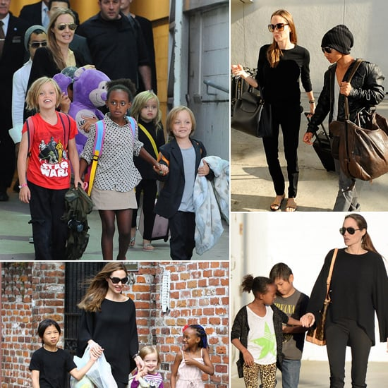 The Jolie-Pitt Clan's Individualist Kiddie Style . . . Times 6!