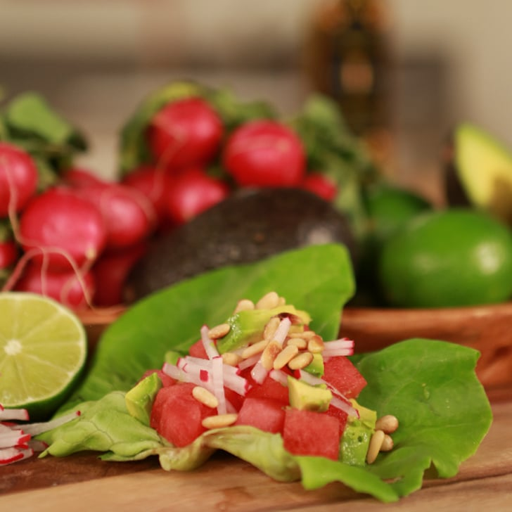 Watermelon, Radish, and Avocado Wraps