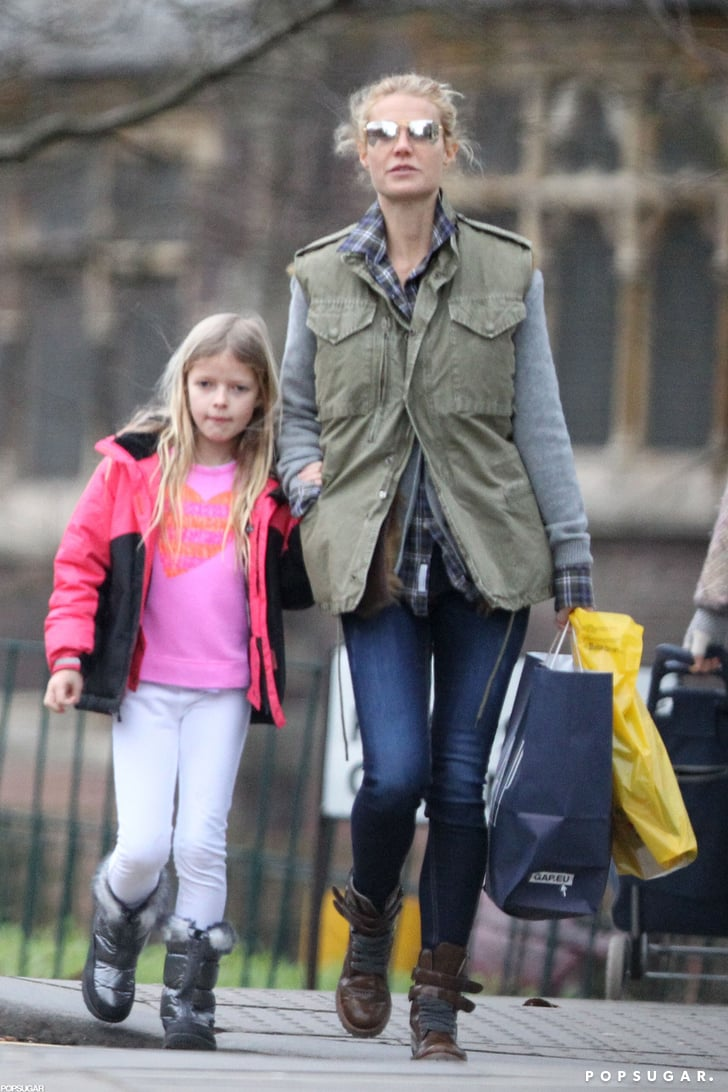 Gwyneth Paltrow held hands with her daughter, Apple, on a walk.