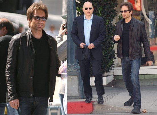 Photos of David Duchovny and Evan Handler on the Set of Californication in LA