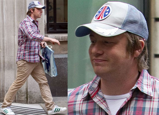 Photos of Jamie Oliver at Radio 2 in London Where He Pledged Millions of His Own Money To Help Children Eat Healthy Food
