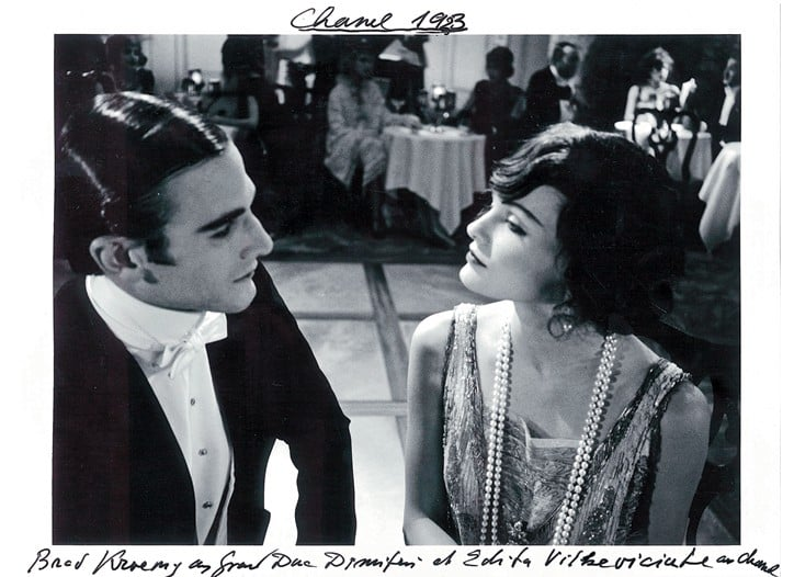 Brad Kroenig as Grand Duke Dmitri Pavlovich with Edita Vilkeviciute as Coco Chanel in 1923.