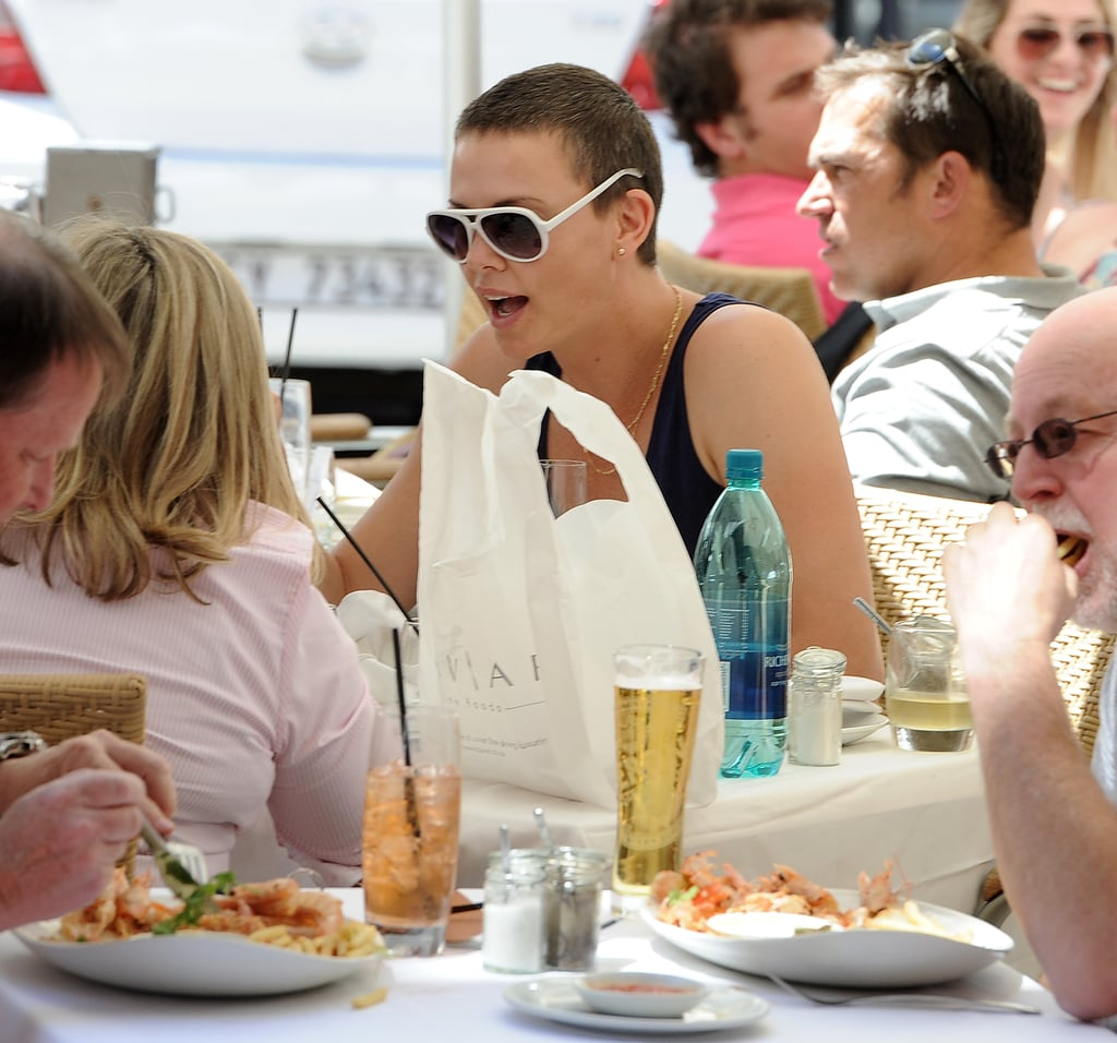 Charlize Theron Lunches With Little Jackson and Her Mum