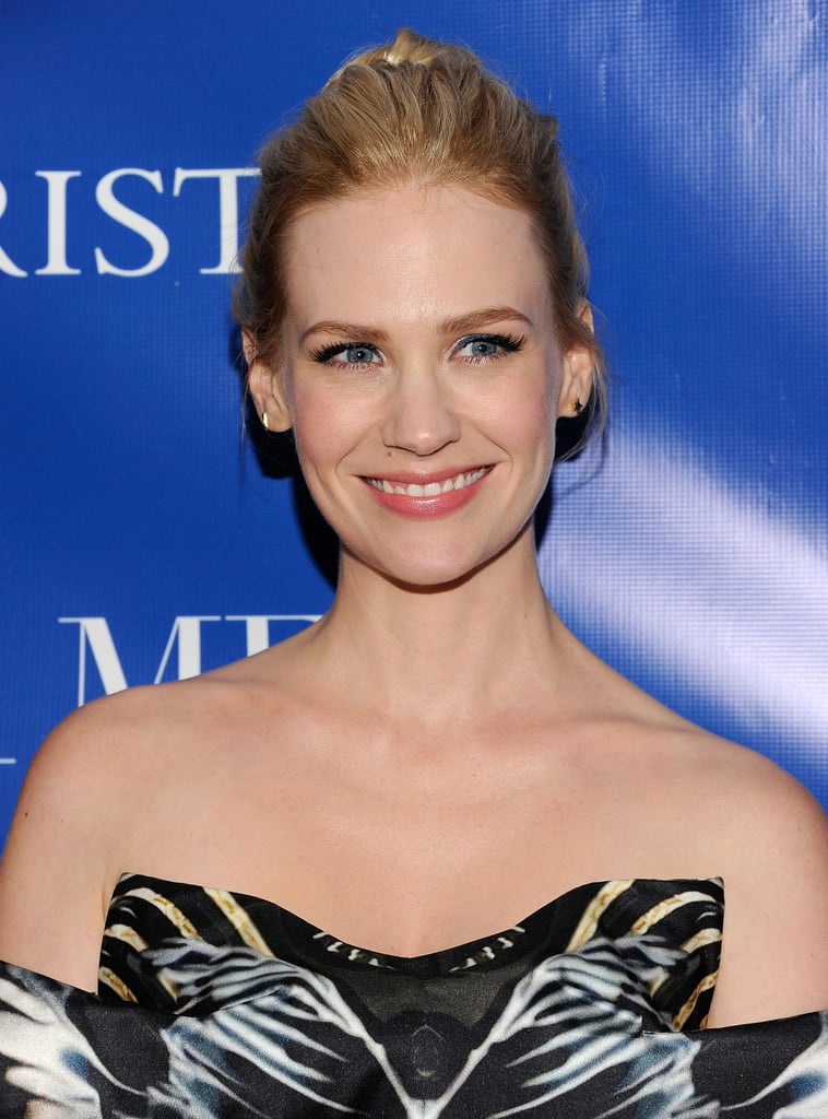 January Jones smiled at a screening of La Revolution Bleue in NYC.