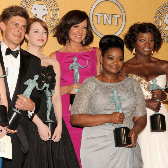 The Help Cast Celebrates in the SAG Press Room