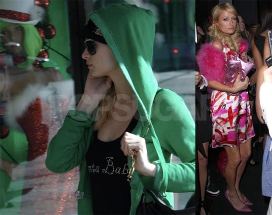 Paris Hilton Does Some Trashy Window Shopping