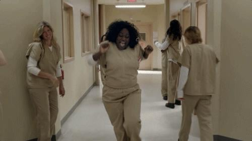 Because of Taystee's dance in the hallway.