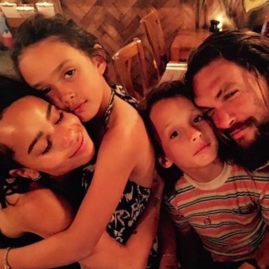 Jason Momoa and Zoe Kravitz Family Picture on Instagram