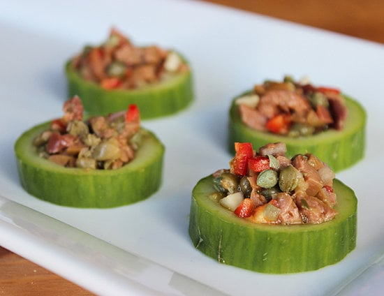 Cucumber Cups With Spicy Tapenade