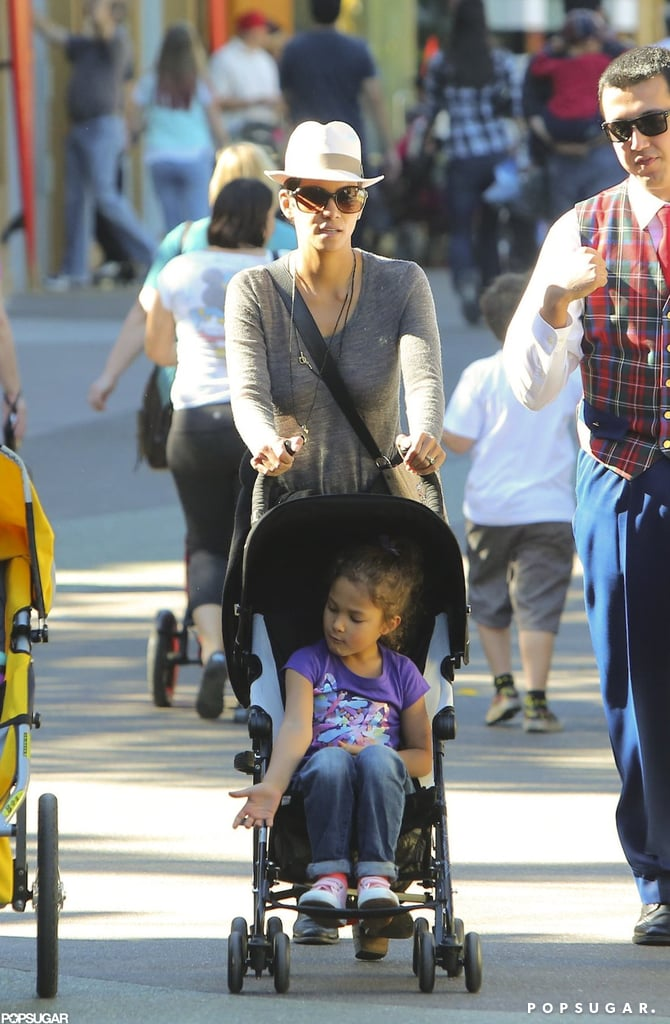 Nahla Aubry got a tour from mom Halle Berry in January.