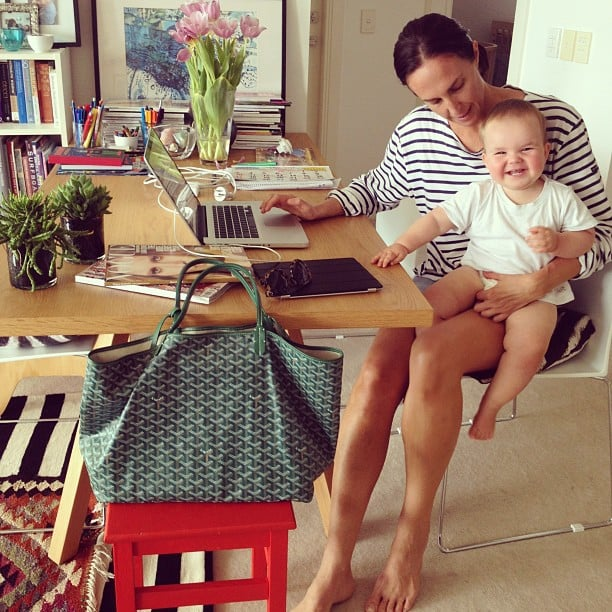 """What does a typical day for you involve? """"As I've got two children, I'm in full on mum mode trying to juggle work and my kids is hectic, but the perfect work life balance. There are no typical days at the moment!"""" Source: Instagram user tashsefton"""