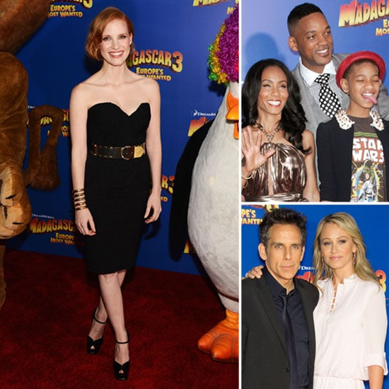 Jessica Chastain Gets Gorgeous For an NYC Red Carpet With Jada, Ben, and Chris
