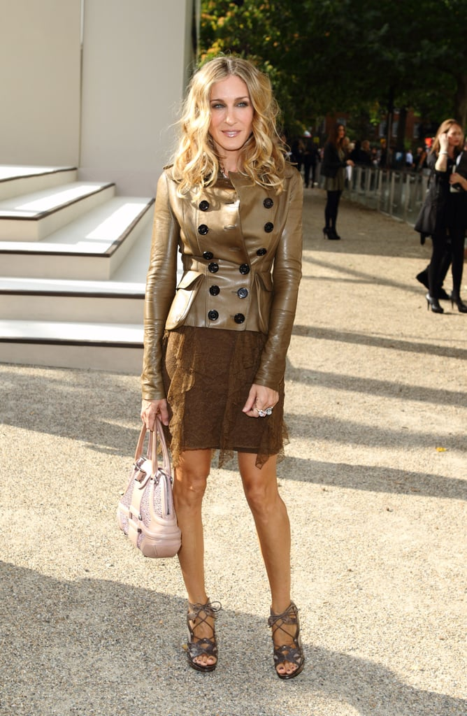 Parker experimented with various earthy hues and textures at the Burberry Prorsum show during London Fashion Week in September 2011.