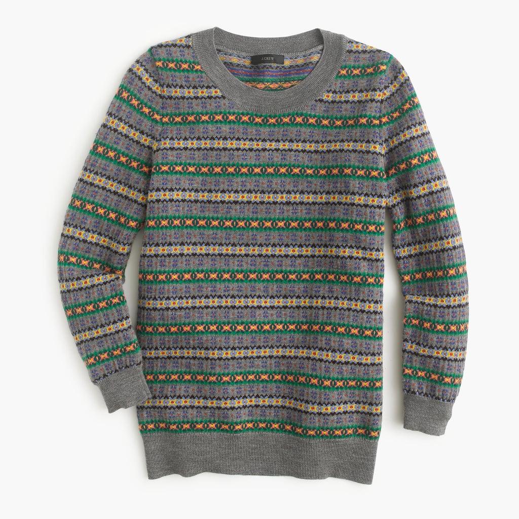 J.Crew Tippi Sweater in Fair Isle ($98)