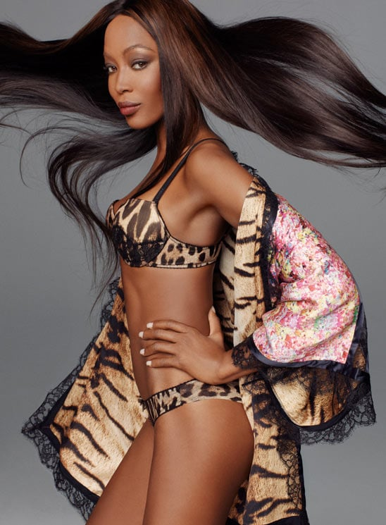 Naomi Campbell sizzles in Roberto Cavalli's leopard print lingerie. Source: Fashion Gone Rogue