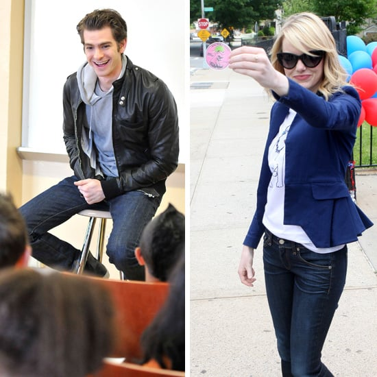 Emma Stone and Andrew Garfield Go Their Separate Ways to Volunteer