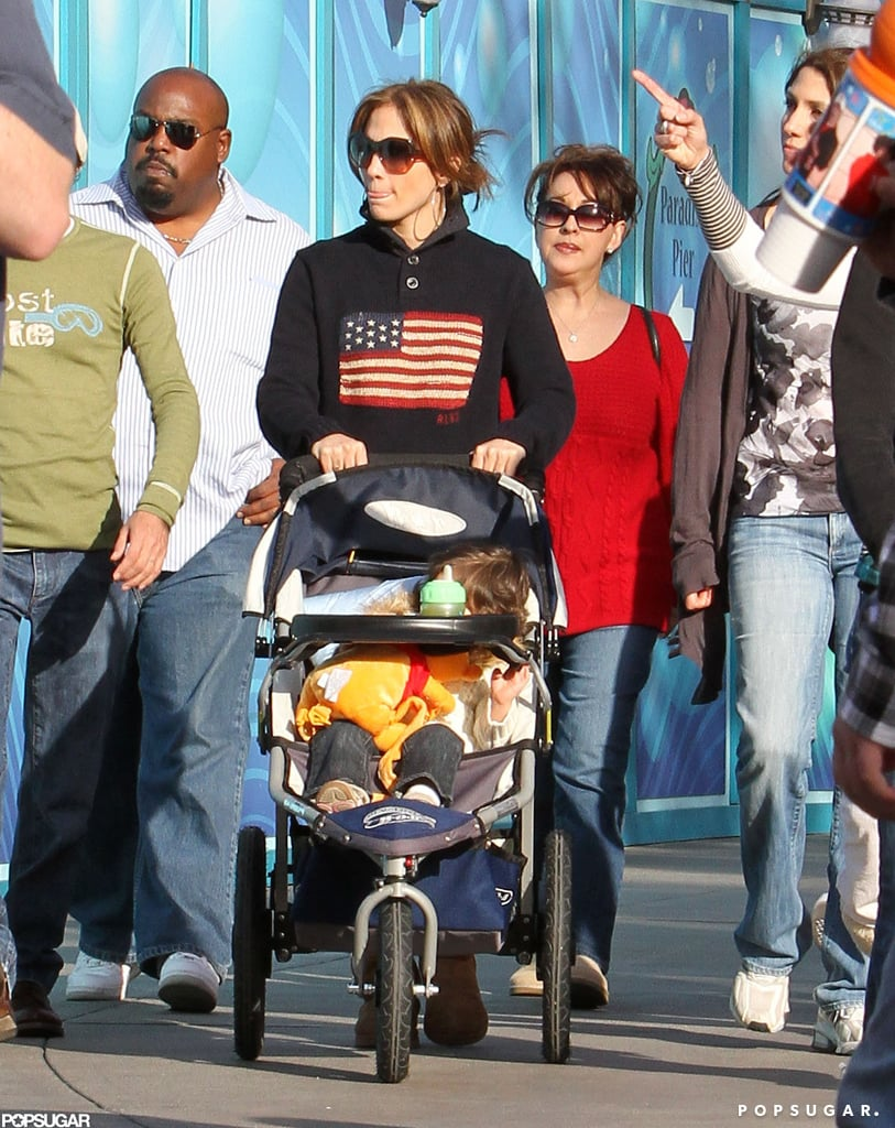 A few years before splitting, Jennifer Lopez and Marc Anthony enjoyed Christmas Eve 2009 at Disneyland with their twins.