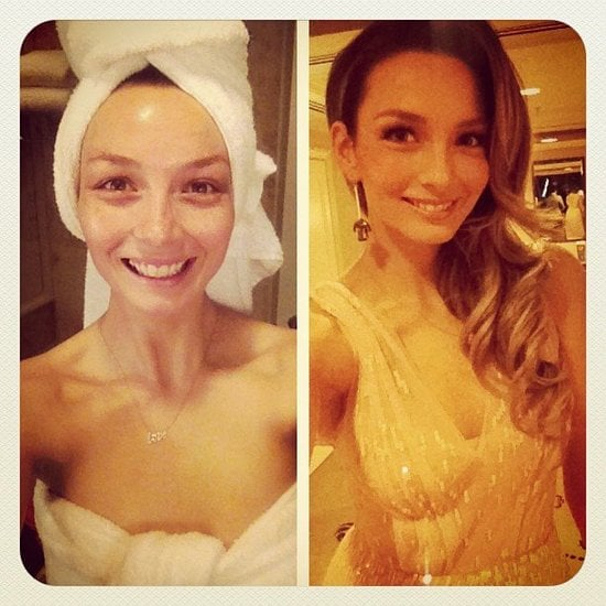 Ricki-Lee shared before-and-after snaps of her prep for a COVERGIRL party.