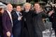 Patrick Stewart, James McAvoy, Ian McKellen, and Michael Fassbender goofed around at Monday's X-Men: Days of Future Past premiere in London.