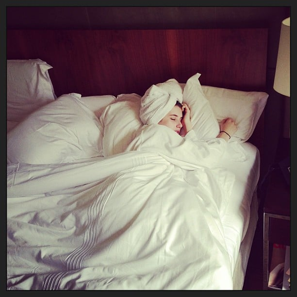 Emma Roberts had some trouble getting out of bed. Source: Instagram user emmaroberts6