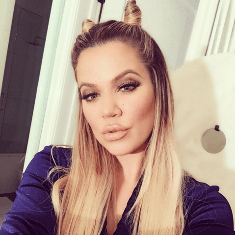 Khloe Kardashian Hello Kitty Hair Buns