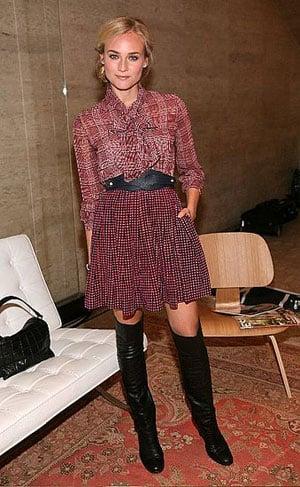Diane Kruger Attends Tommy Hilfiger's Fashion Show at New York Fashion Week 2008-09-15 06:00:08