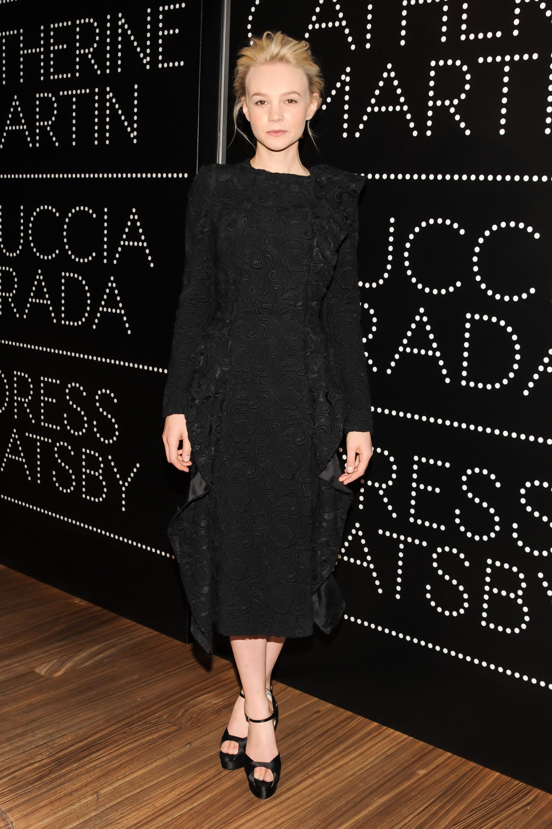 Carey Mulligan in Lace Prada at a 2013 The Great Gatsby Event