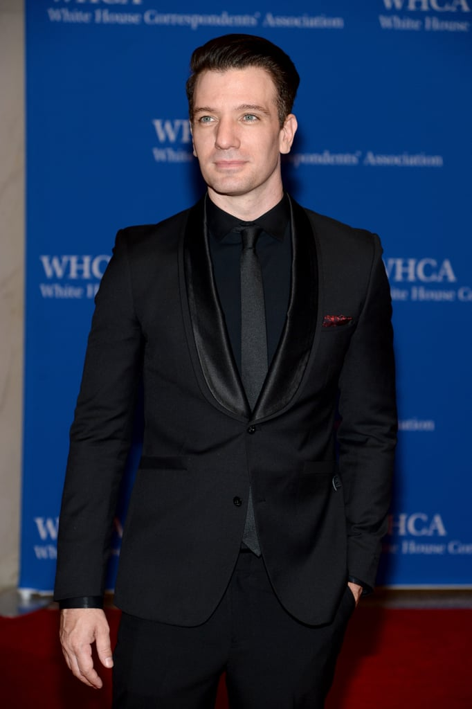 JC Chasez showcased his good looks in a black suit.