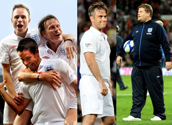 Pictures of Soccer Aid 2010 Match Robbie Williams, James Corden, Olly, Michael Sheen, Gordon Ramsay, Mike Myers, Woody Harrelson 2010-06-07 05:03:56