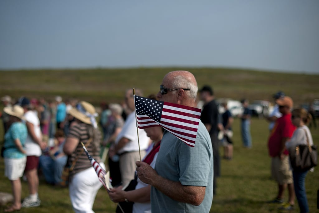 Visitors gathered at the Flight 93 National Memorial in Shanksville, PA.