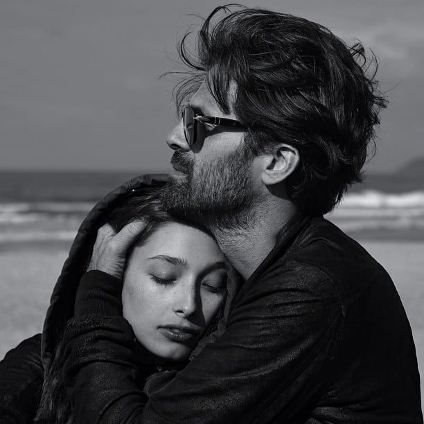 Fashion photographer Chris Colls snuggled up to his girl, model Alexandra Agoston, at the beach. Source: Instagram user chriscolls