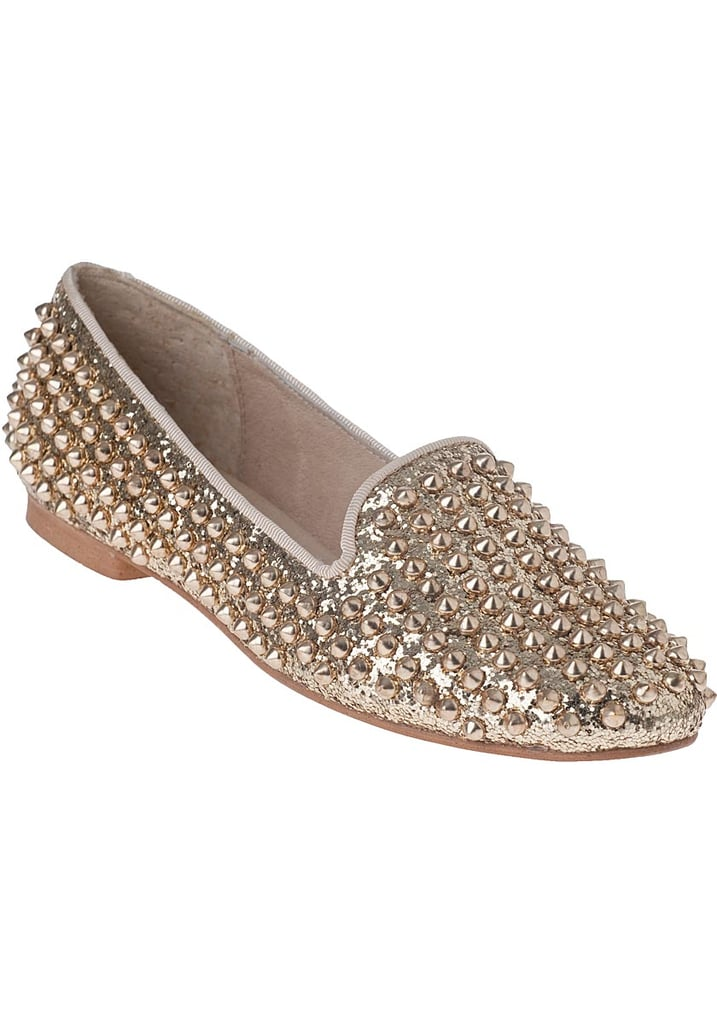 Silver and gold may be on every Christmas tree, but that doesn't mean it shouldn't be a part of your footwear, too. Enter Steve Madden's Studlyy Loafer ($99), with its metallic embellished silhouette.