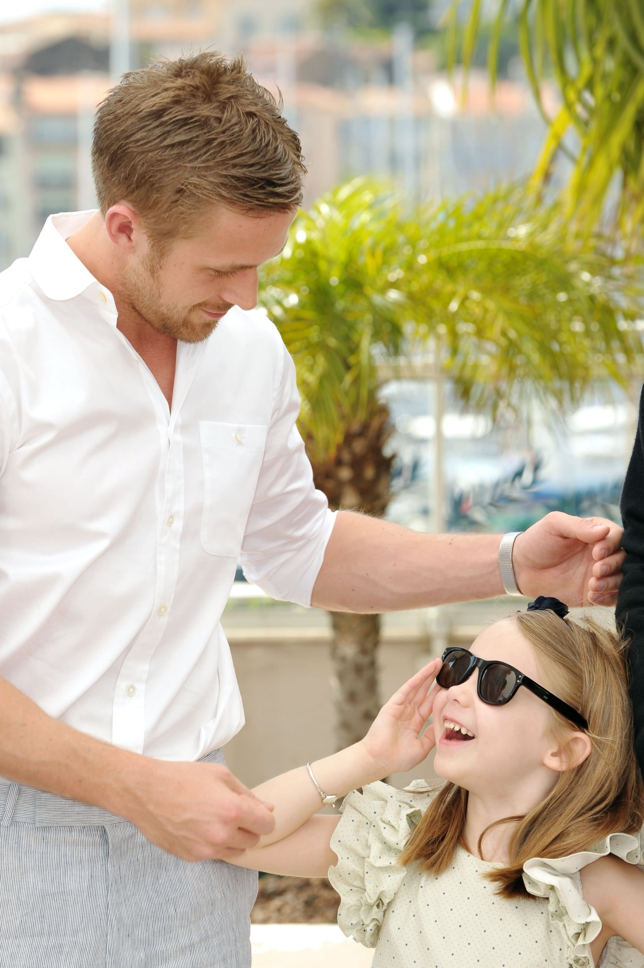 At the Cannes Film Festival, Ryan let Faith Wladyka wear his sunglasses.