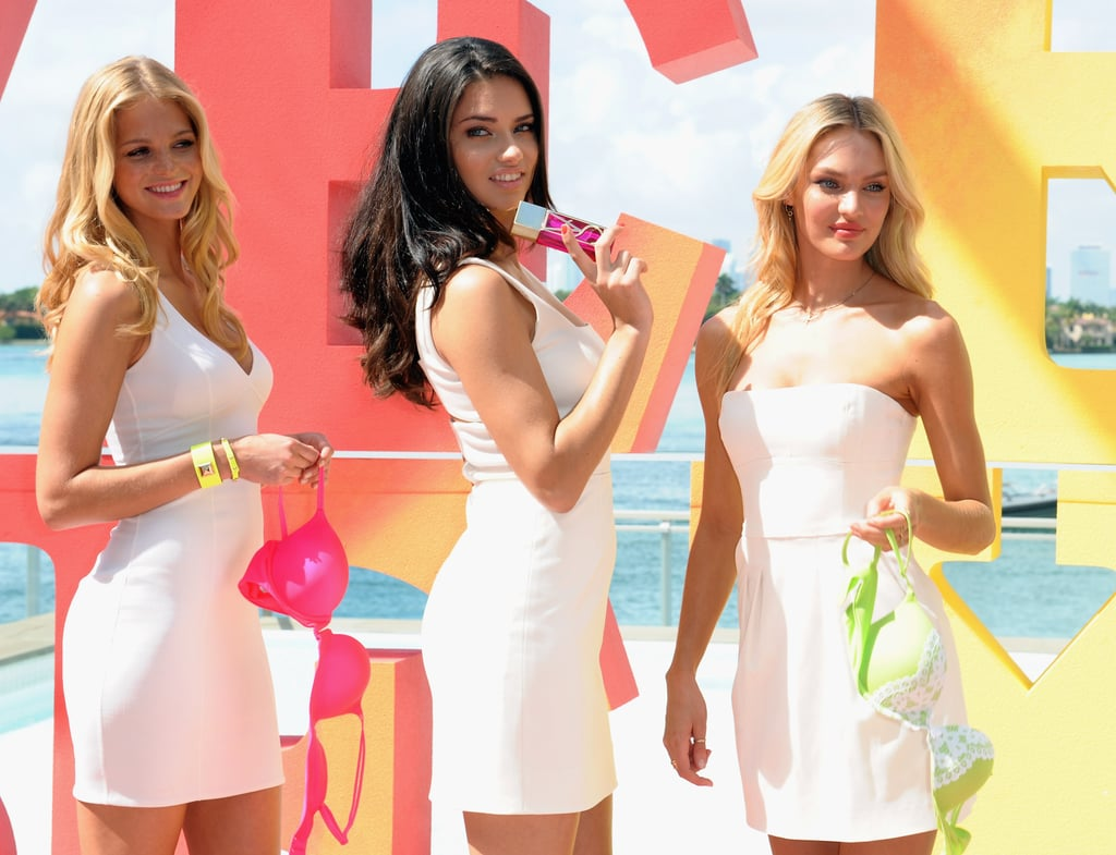 Adriana Lima, Erin Heatherton, and Candice Swanepoel met up in Miami.