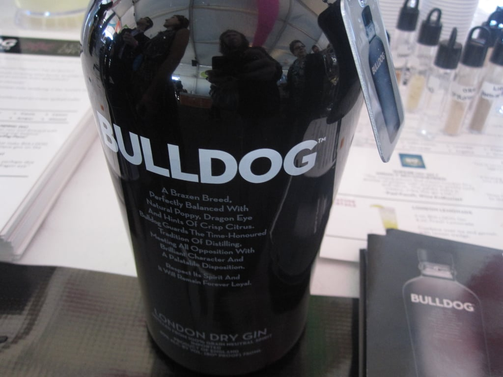 Normally I steer clear of London dry gins, but Bulldog, a brand that's not yet available on the West Coast, was less herbaceous than your typical gin. It would be excellent for martinis.