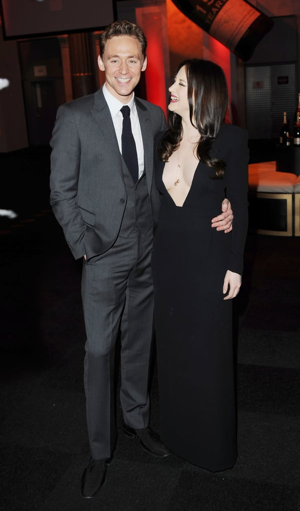 Tom Hiddleston was happy to pose with Andrea Riseborough.