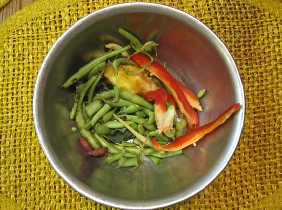Throw Away Food Waste in Compost Bowl