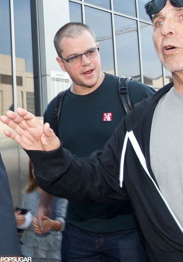 Matt Damon smiled in LA.