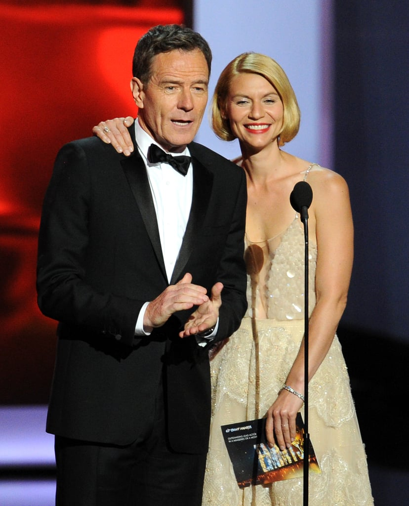 Bryan Cranston and Claire Danes presented an Emmy together.