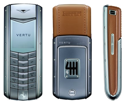 Luxurious Geek: $25,000 Ferrari Phone By Vertu