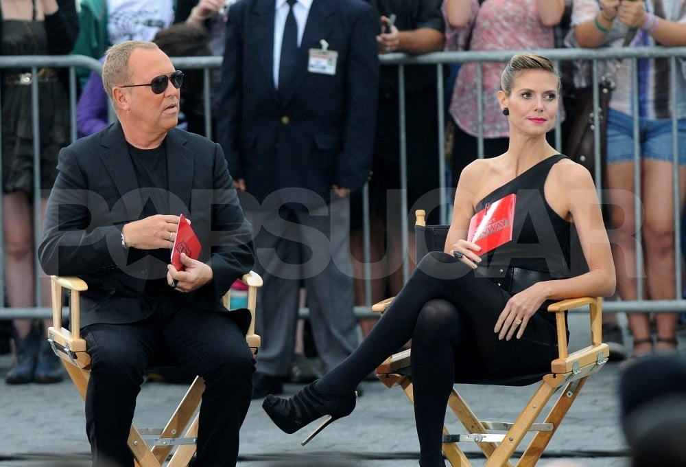 Heidi Klum and Michael Kors put on their poker faces to judge the new Project Runway contestants.