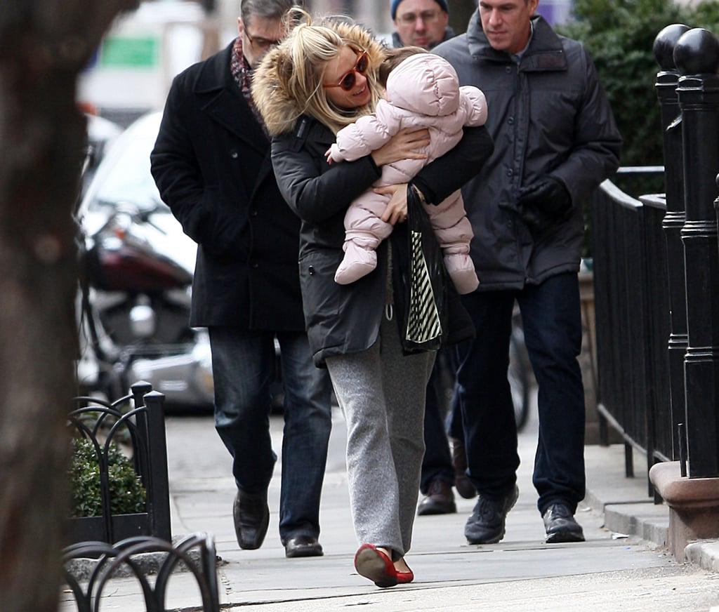 Sienna Miller was sweet with Marlowe on their walk.