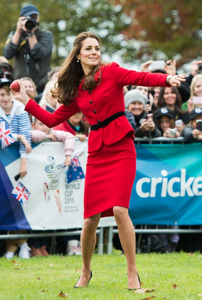 And playing cricket in heels.