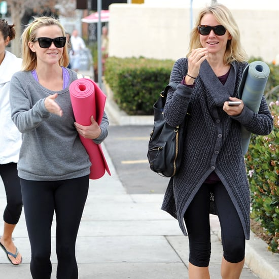 Reese Witherspoon and Naomi Watts at Yoga