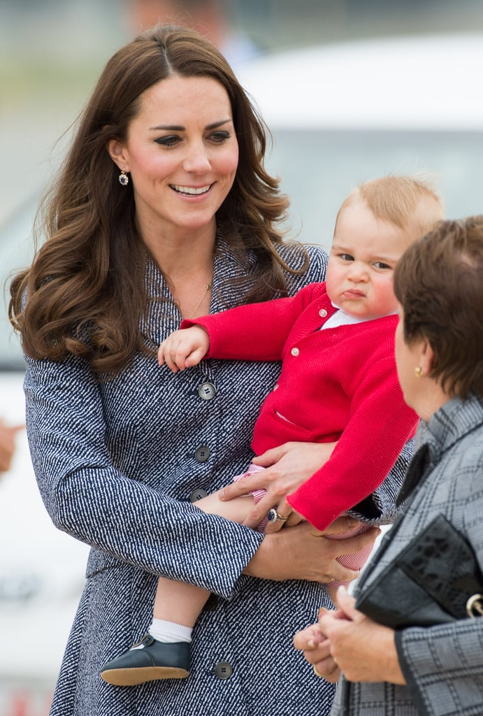 """Prince Harry on George's celebrity look-alike: """"He looks like a young Winston Churchill."""" William on George's resemblance to other royals: """"He's a little bit of a rascal, I'll put it that way. He either reminds me of my brother or me when I was younger, I'm not sure, but he's doing very well at the moment."""" And he also thinks he looks more like Kate: """"He's got [Catherine's] looks, thankfully.""""  Camilla, Duchess of Cornwall, disagrees about his resemblance: """"She said that he looks absolutely gorgeous — that he doesn't really look like anyone else at the moment but that he's a really beautiful baby."""""""