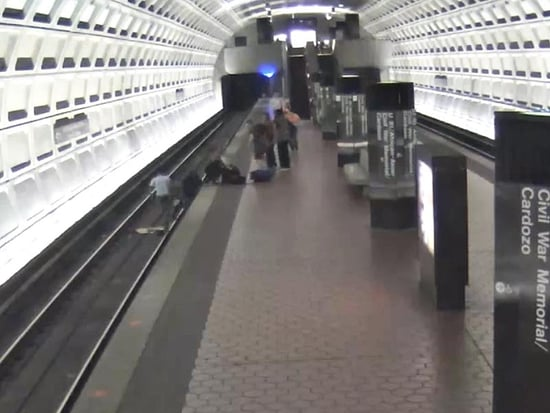 Two Strangers Jump onto D.C. Metro Tracks to Save Man in Wheelchair