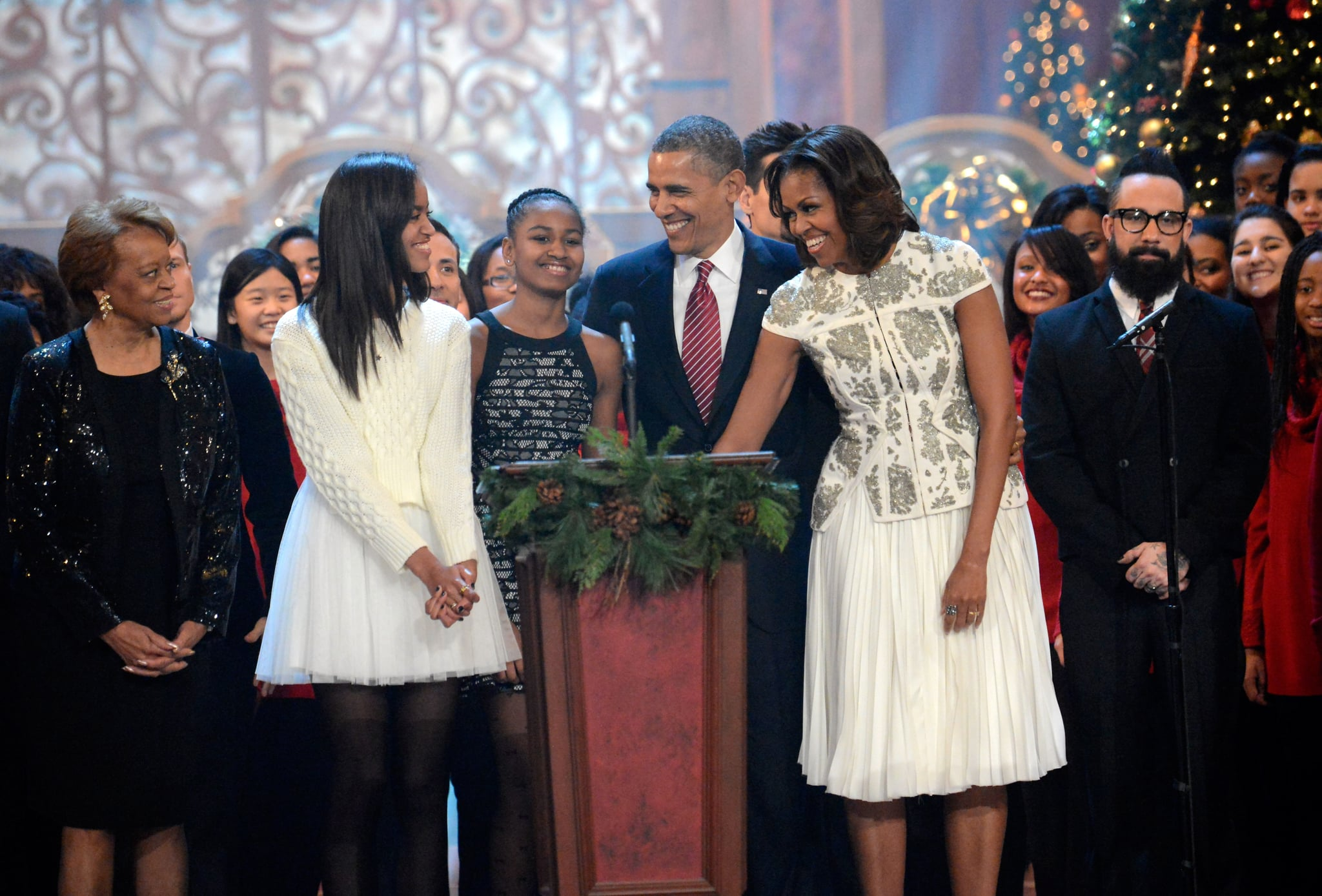 President Barack Obama and First Lady Michelle Obama were all smiles at the event.