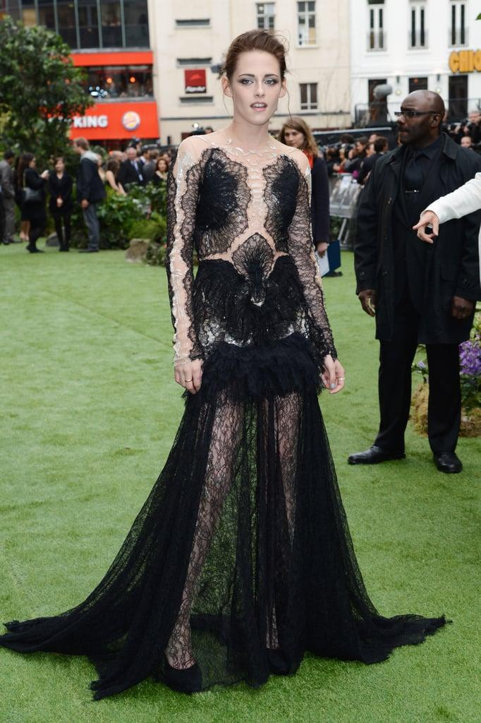 Kristen Stewart Rocks Lacy Marchesa Gown For SWATH London Premiere